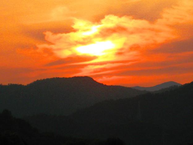 さつき亭から眺めた瀬戸の夕日-1