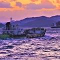 写真: 立春の荒海をゆく@瀬戸内海・燧灘
