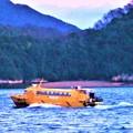 写真: 立春の荒海をゆく@瀬戸田-因島土生-尾道港@弾丸高速艇