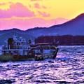 写真: 立春の海をゆく@荒波の瀬戸内海