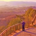 写真: 夕陽マニアのおじさん@展望デッキ@高見山展望台