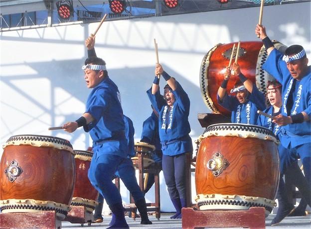 フィナーレは伝統ベッチャー太鼓で@尾道みなと祭2018