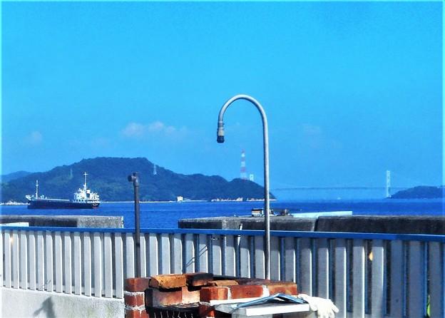 真夏の海辺の風景@しまなみ海道・因島大橋@BBQセット付き