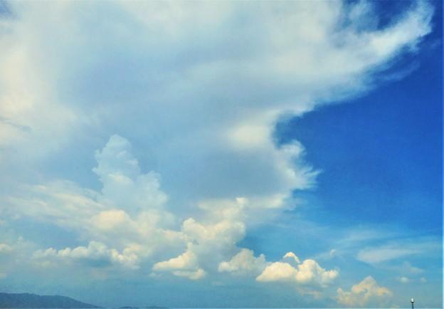 8月13日の屋上の夏空@備後路