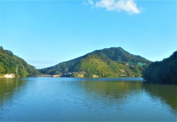 秋の水源池風景@久山田水源池