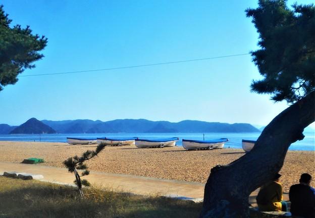 ボート(カッター)のある風景@岡山玉野・渋川海岸