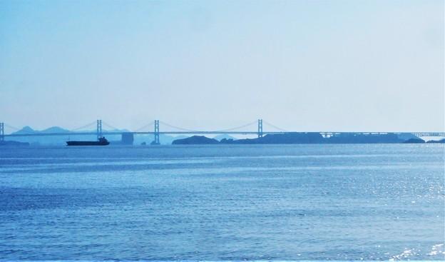 秋の瀬戸大橋@玉野・渋川海岸東方からの眺め