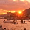 写真: 十月の瀬戸の夕暮れ@新浜町・古浜町
