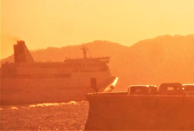 糸崎沖合を航行する豪華客船@瀬戸内海