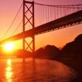 早春の因島大橋の夕暮れ@瀬戸内海・しまなみ海道