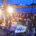 Photos: 神戸船籍の帆船「みらいへ号」@船上寄港記念パーティー