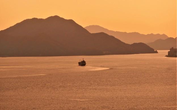 瀬戸内海の夕暮れ@立冬過ぎの糸崎の丘