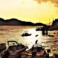 瀬戸の夕暮れ@立冬過ぎの新浜港