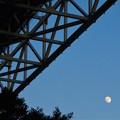 Photos: しまなみ海道に昇った 師走の月@因島大橋