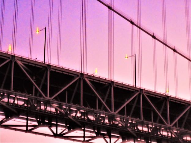 因島大橋の夕暮れ@師走のしまなみ海道