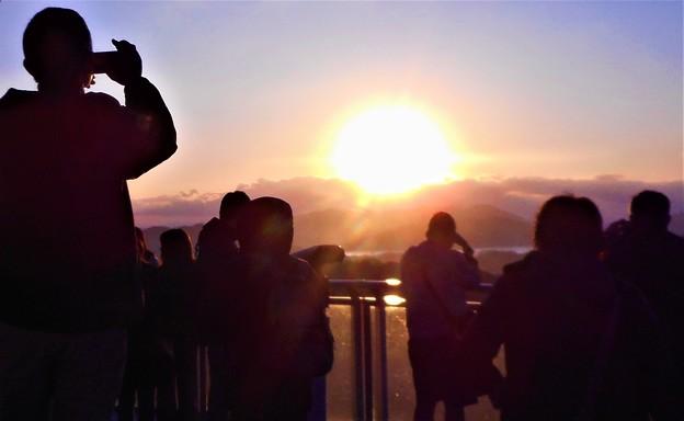 ピカピカのご来光@千光寺山展望台2020.1.1