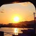 Photos: 正月四日の漁港の夕景