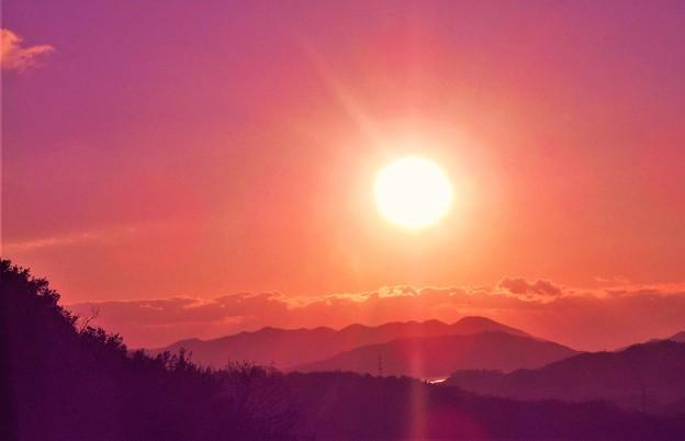 千光寺山の初日の出2020.1.1
