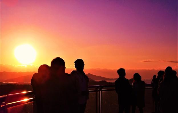 初日の出を拝む@千光寺山展望台2020.1.1