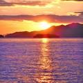 Photos: クジラ島の夕陽@瀬戸内海・燧灘2020.1.5
