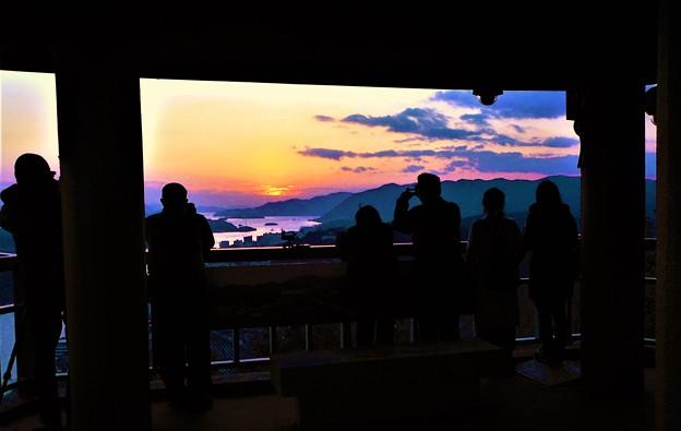 新春の瑠璃山の夕陽2020.1.11