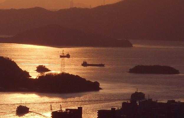 新春の瀬戸内海@船舶往来の図@浄土寺山2020.1.11