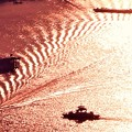Photos: 尾道水道の干渉縞@駅前渡船と小型船@瑠璃山山頂展望台