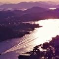 Photos: 光る海と縞模様@光の干渉縞@浄土寺山山頂展望台