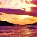 新春の燧灘(ヒウチナダ)夕景@瀬戸内海