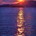 Photos: クジラ島の夕陽@新春の瀬戸内海