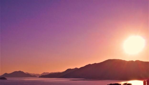 筆影山の夕暮れ@瀬戸内海・糸崎の丘