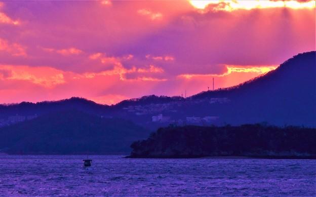 新春の瀬戸内海夕景2020.1.13