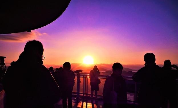 Photos: 初日の出2020@千光寺山山頂展望台