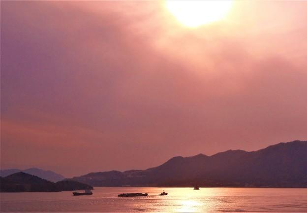 二月の光る海@糸崎の丘