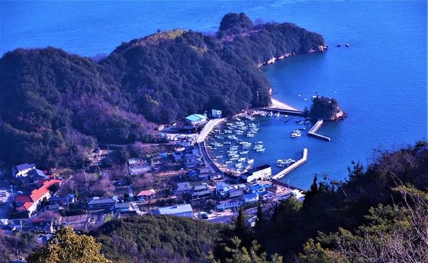 観音崎の漁港風景