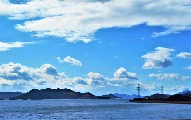 藤井川河口(松永湾)から瀬戸内海を望む2020.2.17