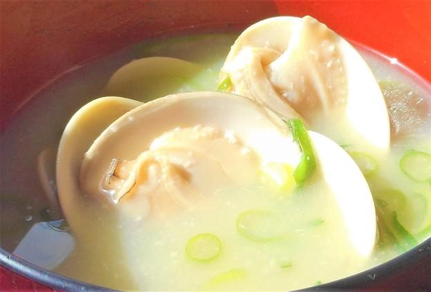 ひな祭りに ハマグリのお味噌汁@縁起物