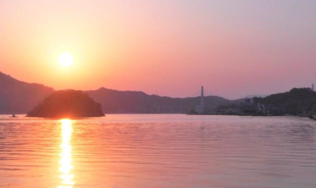 八十八夜の生口橋の夕景@初夏のしまなみ海道@因島土生港