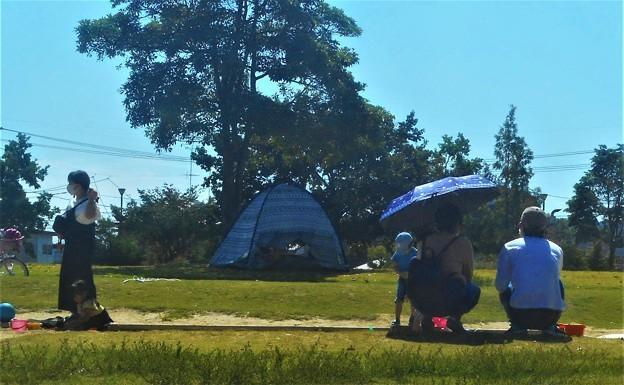 休日は外でキャンプして遊ぶ@4連休@秋分の日