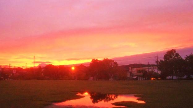 10月8日の夕焼け@雨上がり