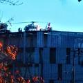 Photos: 晩秋のヘリポートに舞い降りたドクター・ヘリ@消防本部屋上