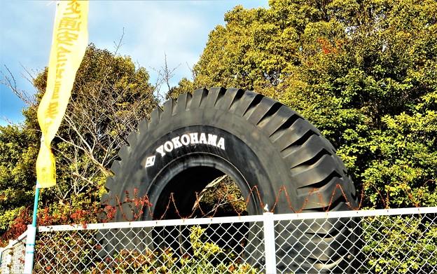 タイヤ工場のタイヤはデカイ(展示物)