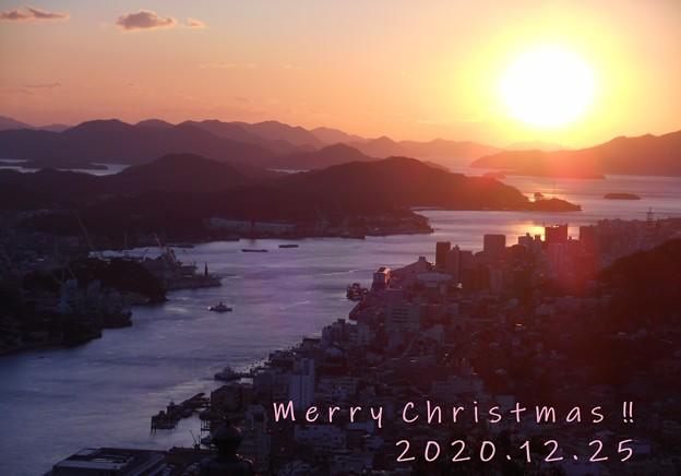 Merry Christmas 2020 @瑠璃山の夕陽