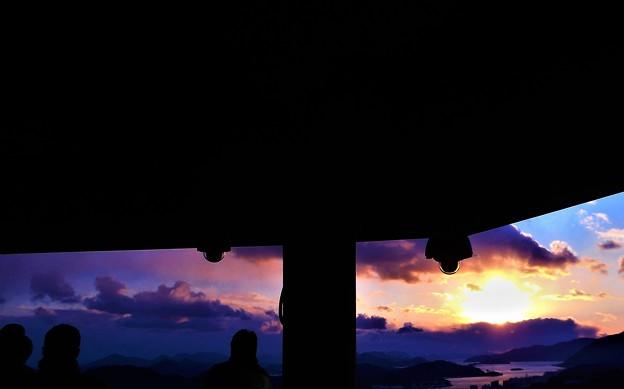新春の夕陽マニアたち2@瑠璃山21.1.9