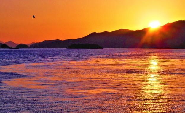 節分の日の夕景色@瀬戸内海・燧灘21.2.2