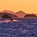 Photos: 夕暮れの荒れた海@2月の燧灘