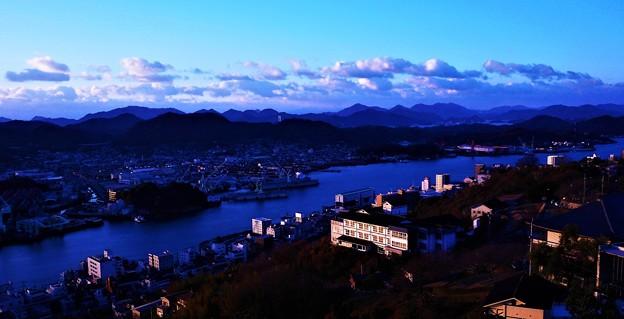 新年の夜明け@千光寺山展望台21.1.1.07:42am