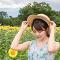 Photos: ひまわり畑で