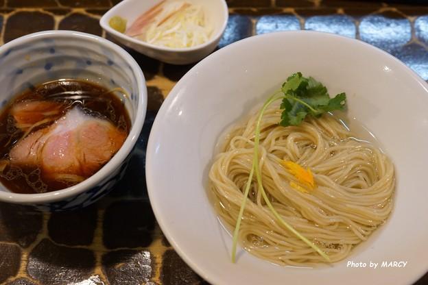 特級鶏蕎麦龍介@端麗醤油つけそば&冷し煮干油そばセット