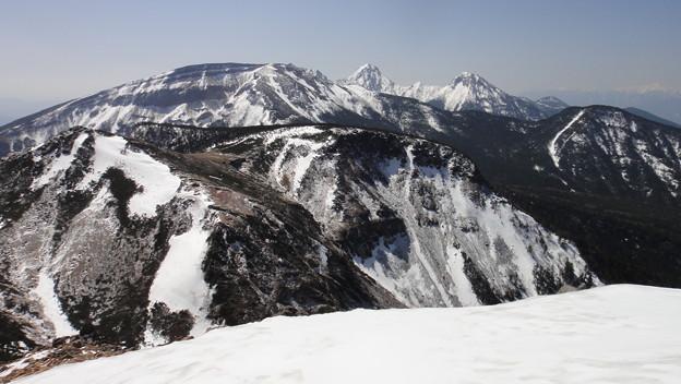 西天狗岳から硫黄岳、赤岳